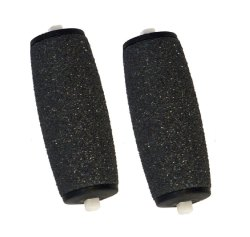 Replacement Refills for Electronic Foot Files & Roller (Pack of 2) (Black)