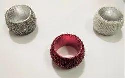Handmade Glass Beaded Napkin Rings - Home Furnishing