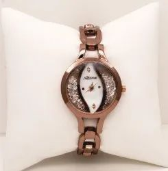 Party Dark Rose Gold Belt Ladies Watch