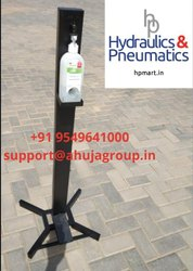 Hands Free Sanitizer Stand, Touch free sanitizer stand, contactless