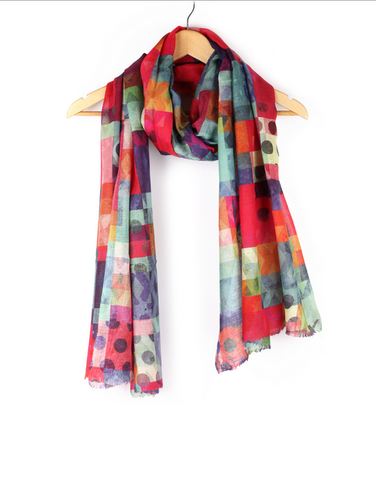 44aec45319310 Multi Color Printed Abstract Fine Wool Scarf, Rs 1190 /piece | ID ...