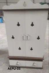 Wooden Pooja Storage Shelf, For Home