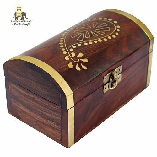 Ash Wood Polished Wooden Jewelry Box