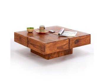 Low Height Coffee Table 80x80 Cms