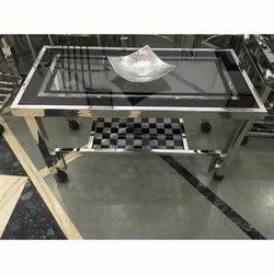 Movable Stainless Steel Center Table