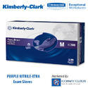 Purple Nitrile- Extra  Exam Gloves