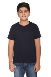 Cotton Solid Round Neck T-Shirts for Boys, Size: S to XXL