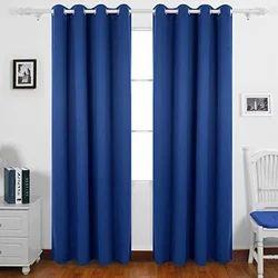 Blue Designer Window Curtain