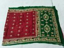 Red & Green Bandhani Gharchola Saree, Length: 6.5 meter