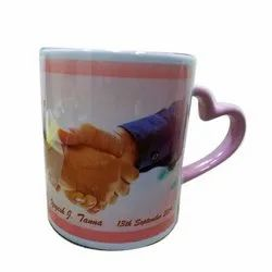 Ceramic Heart Handle Mug, 300 Ml