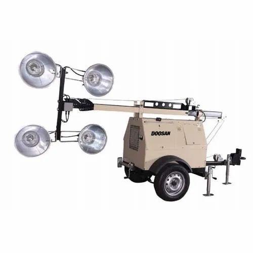LSCM4 Doosan Portable Light Tower Air Compressor