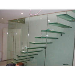Staircase Toughened Glass Work