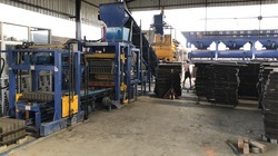 Semi Automatic Concrete Brick and Block Making Machine