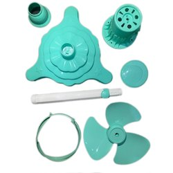 Light Sea Green Table Top 12 Inch Mini Pedestal Fan Kit