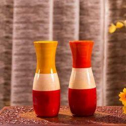 Organic Color Wooden Vase, Shape: Jar Shaped, Size: Medium