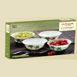 White Snack Bowls Set 6 Pc- Diva LaOpala For Gifting, Size: 200 mL