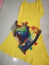 FULLY STICHED KURTI WITH DUPPATA