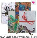 Flap Note Book With Lock & Key