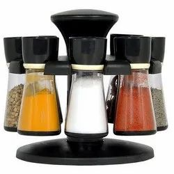 Plastic Revolving Spice Rack Pack of 8 For Kitchen Storage Container Rack Sets S