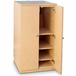Brown Wooden Storage Cabinet