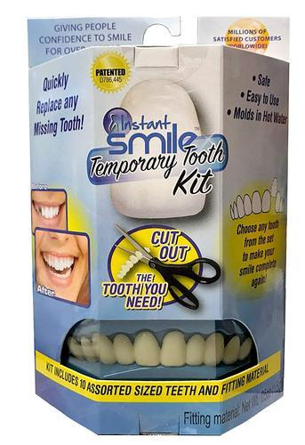 Temporary Tooth Kit - Replace A Missing Tooth in Minutes Bonus Bag of Impression Material