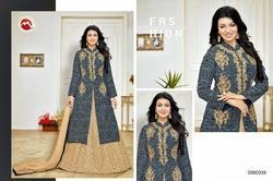 Collar Neck Full Sleeve Moof Salwar Suit