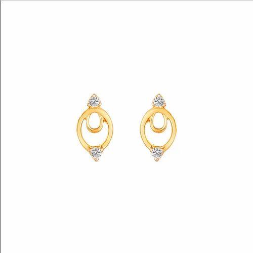 8a04b7ab5 Tanishq 18KT Diamond Oval Studs Earring, Rs 10157 /pair, Titan ...