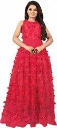 Om Sai Enterprises Net Ladies Gown, Size: L-M-XL