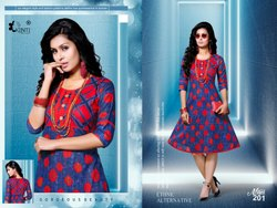 Cambric Cotton Printed Kurti