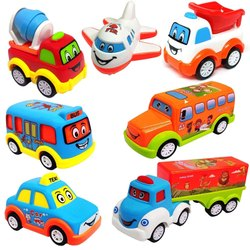 Unbreakable Vehicles Cars Truck Toys Set For Kids