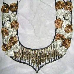 Designer Suit Beaded Necklines