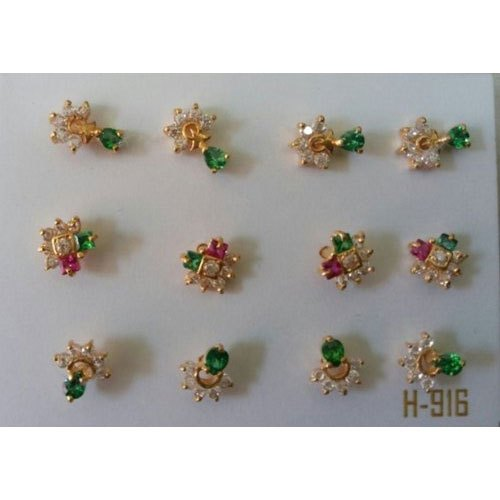 615fbd2cd Gold & Gemstone Designer Ear Tops, Packaging Type: Packet, Rs 2500 ...