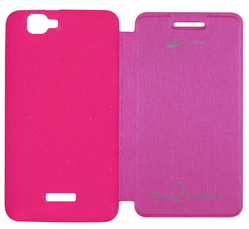Flip Cover For Micromax Canvas 2 Colours A120 Pink