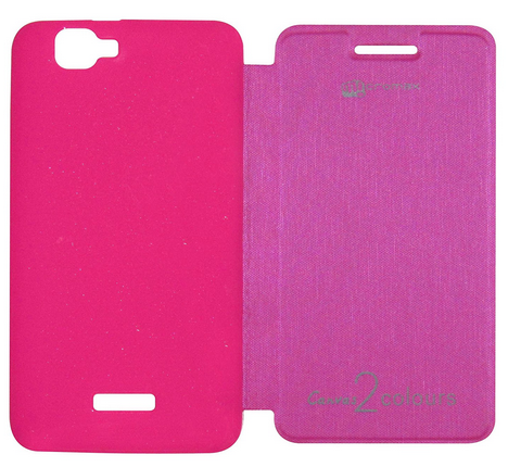buy popular a04bd 4e724 Flip Cover For Micromax Canvas 2 Colours A120 Pink