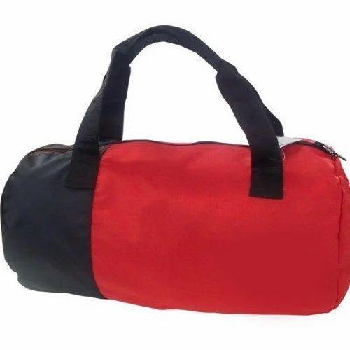 Red And Black Plain Gym Bag d44403d5eabc4