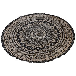 Mandala Floral Round Center Table Cloth