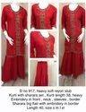 Red Kurti And Sharara Set