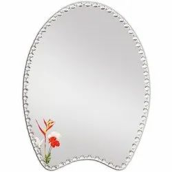 Diamond Designer Border Printed Glass Mirror