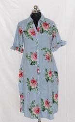 Ladies rayon Shirt Style Kurti