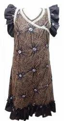 Cotton Knee Length Designer Gowns Nighty