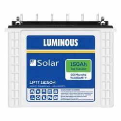 Luminous Solar Inverter Battery, Model Number/Name: Lptt12150h, Warranty: 60 Months