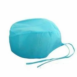 Blue Non Woven Disposable Surgical Caps for Hospital, Size: Free