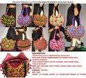 Cotton Casual Wear Traditional Kutch Handbag - Multicolor Round Shoulder Bag
