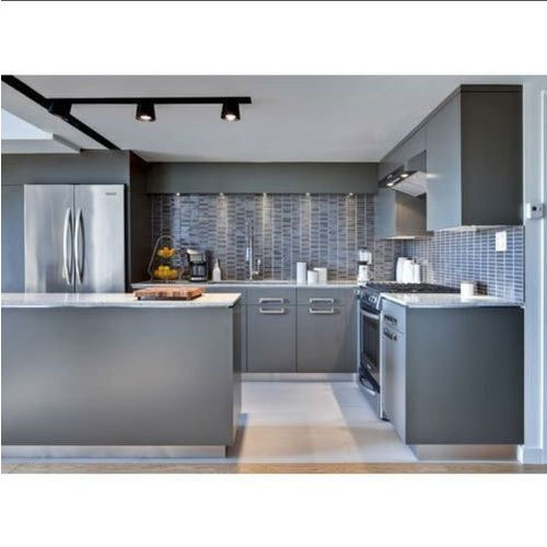 Grey Home Modular Kitchen, Rs 120000 /unit, Sri Krishna
