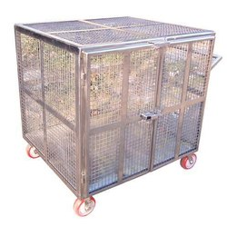 SS Animal Cage Trolley