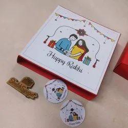 Square Chocolate Box For Rakhi, Box Capacity: 9 cavity
