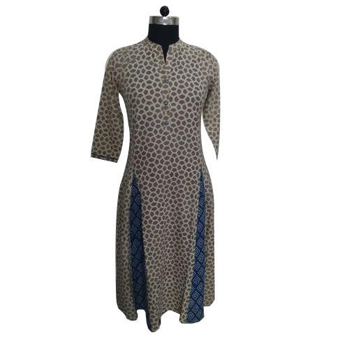 Stand Collar Designs For Kurti : Ladies stand collar party wear kurti at rs piece party
