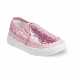 Kids Pink Casual Slip On Shoes