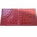 Red Designer Floor Tile