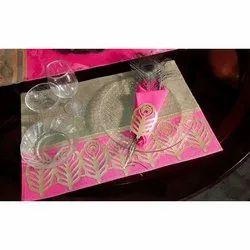 Plastic Rectangular Patch Work Table Mat